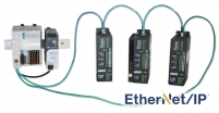 Stepper drives with embedded Ethernet switch