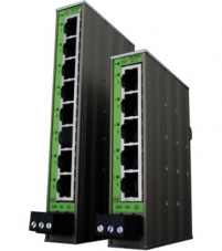 Slim industrial Ethernet switches