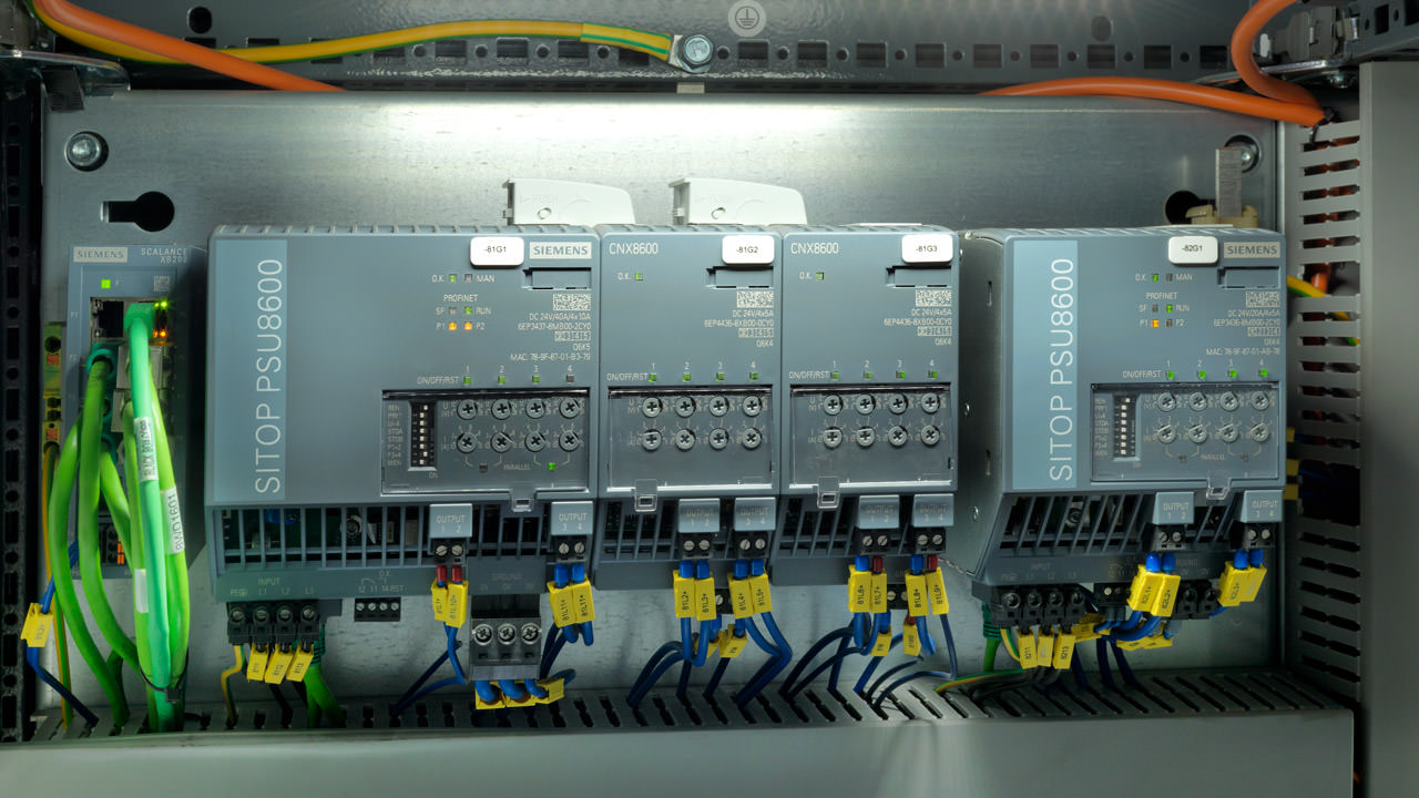 Integrating the power supply system into the digital world of automation allows Scott to make the plant Industrie 4.0 ready.