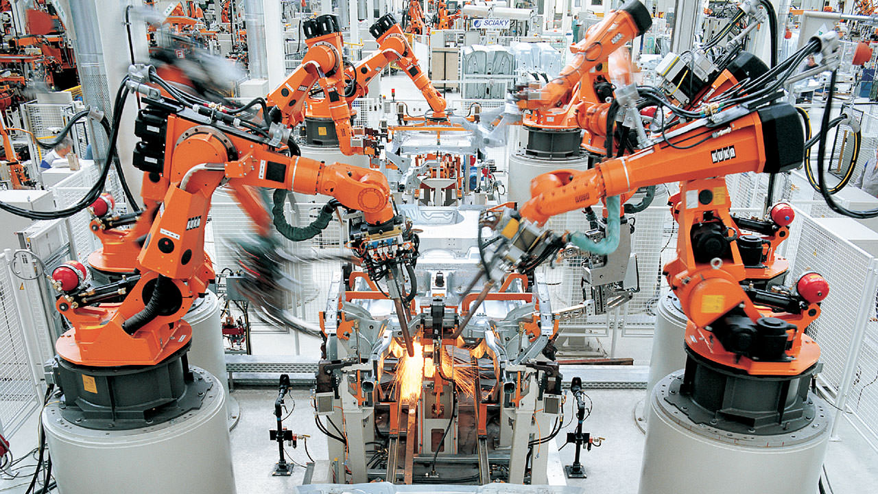 Auto Factory Robotic Arms