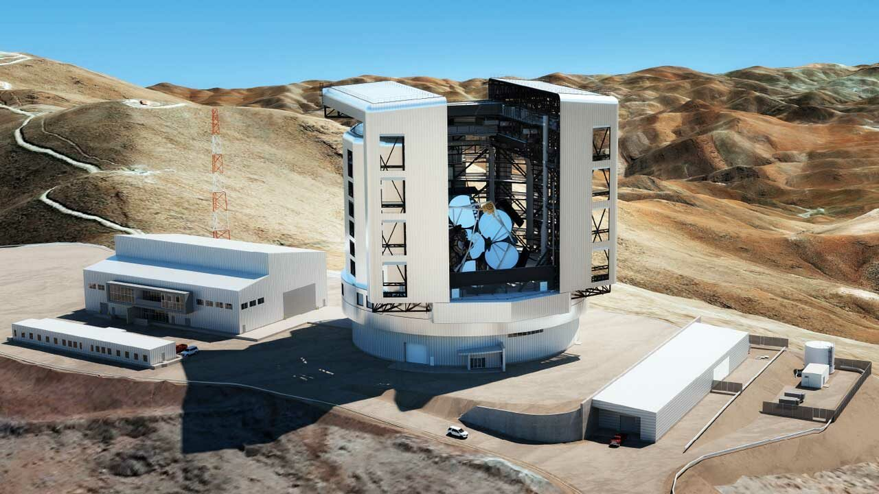 With seven mirrors and a combined diameter of 25 meters, the Giant Magellan Telescope will represent the next generation of ground-based telescopes when it goes live at Las Campanas Observatory in Chile in 2029.