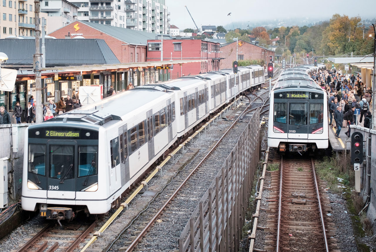 Public transport systems form the backbone of individual transport in Oslo – and the T-Bane has a substantial part in it.