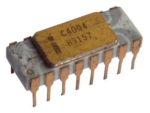 The Intel 4004, the world's first microprocessor, led to the development of 8-bit processors that supported Modbus RTU.