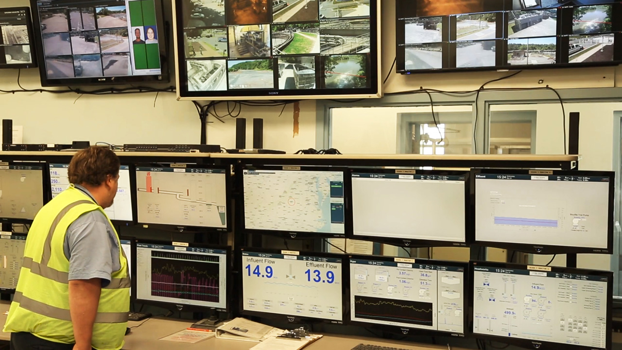 The Department of Water Resources in Lynchburg built numerous SCADA screens to track a variety of processes.