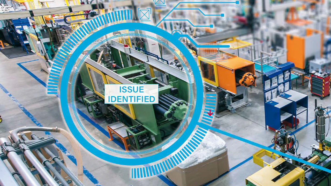 Predictive maintenance provides comprehensive insight into the health of a machine and forecasts the probability of component failure, helping to identify damage before it becomes critical.