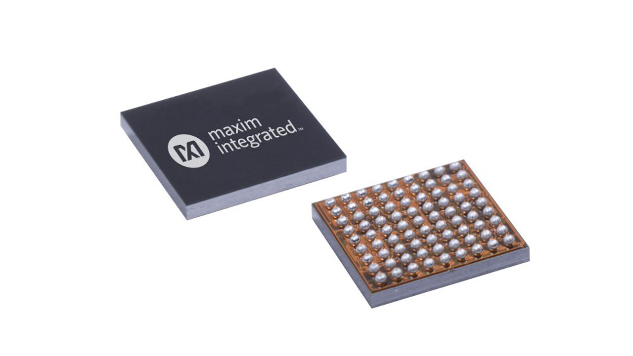 Dual-core processor with neural network accelerator from Maxim Integrated for use in battery-powered IoT devices
