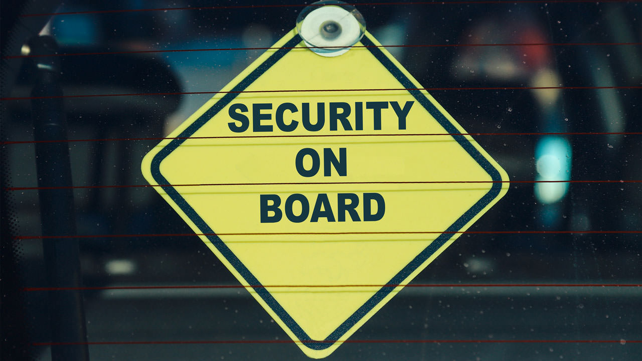 Security On Board Sign