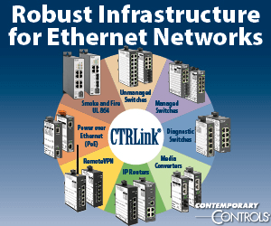 Contemporary Controls Infrastructure for Ethernet Networks