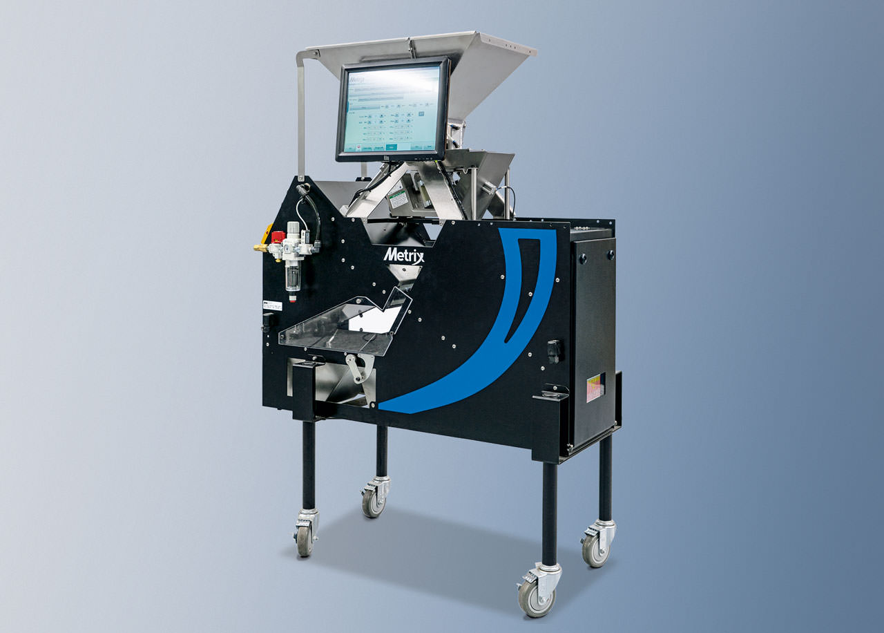 The Metrix Analytic Lab Color Sorter, one of VMek Sorting Technology's top hardware solutions, uses two full-color GigE cameras to separate and gather data on seeds.
