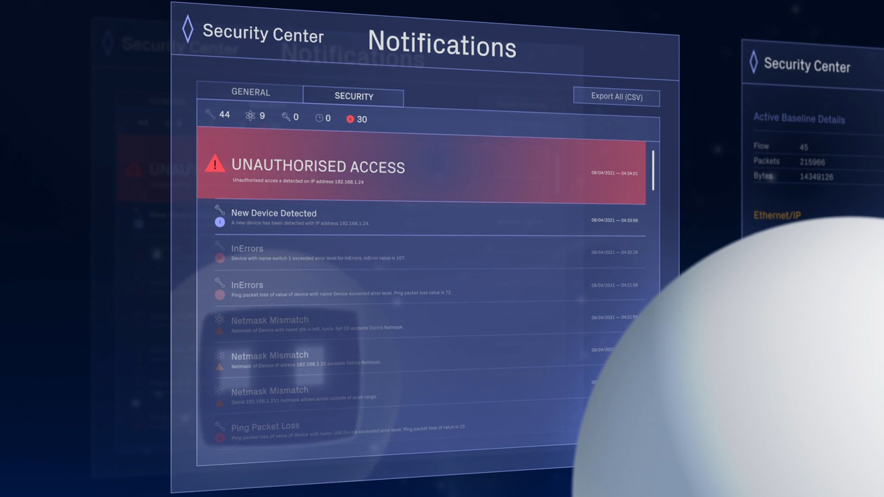 Network Security Notifications