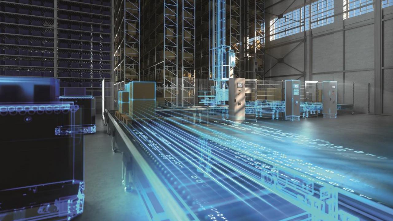 Using Digital Enterprise Portfolio for machine builders and plant operators along intralogistics value chain.