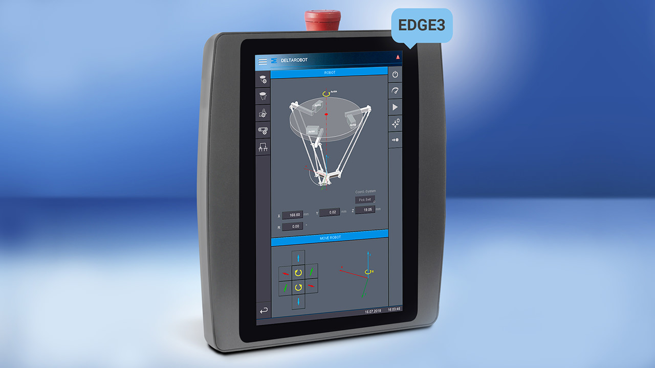 Use the OPC UA-capable handheld panel to operate, teach-in, test and service machines.