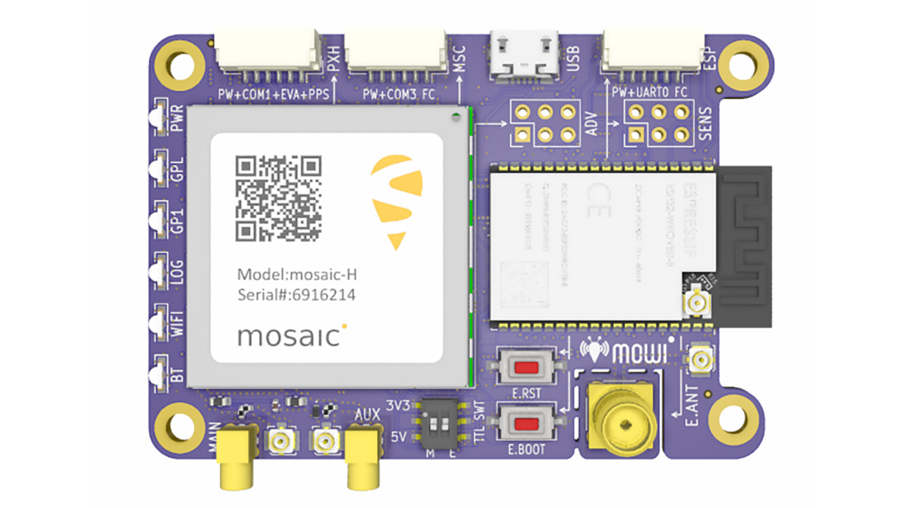 mowi is an open-source reference design for Septentrio's highly accurate GNSS module, mosaic.